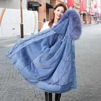 【年货节 直降到底】中长款派克服女冬季2020新款韩版茶抽腰修身外套棉服女大码棉衣女