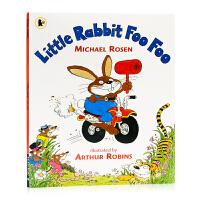 骑自行车的兔子 Little Rabbit Foo Foo 英文原版绘本 亲子共读图画故事书 平装 我们一起去猎熊同作