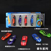 美泰风火轮火辣小跑车5辆装车模合金小汽车玩具车轨道赛模型赛道