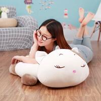 布娃娃宝宝午睡枕玩偶送生日礼物女抱枕毛绒玩具熊猫公仔狐狸