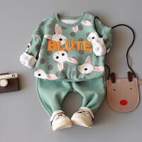 童装 男童 女童 宝宝春装婴幼儿外出服婴儿衣服套装