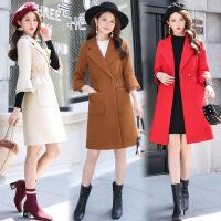 2017秋冬新款女装毛呢外套韩版时尚中长款呢子大衣修身显瘦风衣女