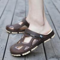 洞洞鞋男夏季防臭大码学生沙滩鞋透气凉拖韩版防滑凉鞋包头男拖鞋