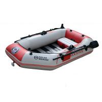 二人条板底充气船夹网船钓鱼船裸船3块木条底1个钓鱼座充气船