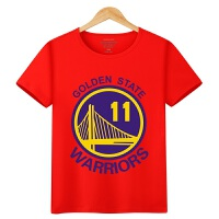 20180418023340216 男童夏装短袖t恤 运动篮球服中大童儿童詹姆斯库里科比纯棉体恤