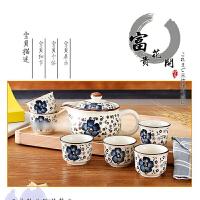 20180418051947689 新款茶具套装 茶具礼品套装 陶瓷快客杯茶壶青花茶杯日式和风手绘