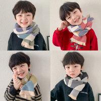 �和���巾秋冬季保暖拼色仿羊�q��巾男童披肩�n版百搭����女孩��脖
