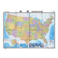 世界热点国家地图�q美国(1:4250000)