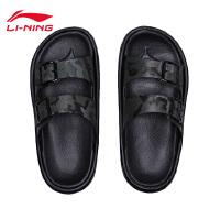 李宁拖鞋男鞋2018新款轻便迷彩男士夏季运动鞋AGAN007