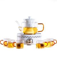 唐丰欧式家用喝茶耐热玻璃煮茶器茶壶茶杯蒸茶功夫茶具泡茶器套装