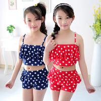 新款儿童游泳衣女童女孩泳装公主比基尼宝宝分体裙式小中大童泳裤