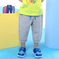 歌瑞家男女童裤子夏季新款童装宝宝裤子针织七分裤乐友孕婴童