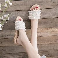 户外时尚女鞋单鞋草编拖鞋外穿休闲舒适韩版平底鞋