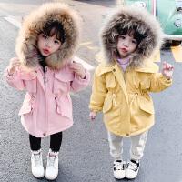 女童派克服洋气冬装儿童外套棉袄