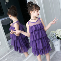 女童夏装连衣裙2018新款韩版洋气裙子中大童洋气蛋糕裙女孩公主裙