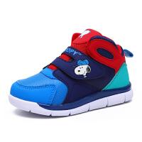 史努比童鞋冬季新款儿童运动鞋男童棉鞋保暖防滑男童鞋