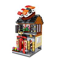 小颗粒积木迷你街景拼插女孩子拼装玩具房子全套拼接