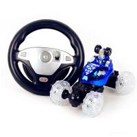 电动玩具车男孩遥控汽车大号翻斗车遥控车儿童可充电翻滚特技车