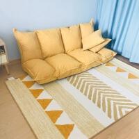 现代简约北欧ins几何客厅茶几垫卧室地毯床边房间家用可水洗定制 DJ-001(环保无味) 黄金流沙