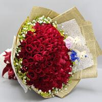 ????礼缘 520情人节混搭玫瑰花束北京鲜花速递同城上海生日鲜花店送花上门女朋友 喜迎国庆