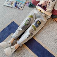 女童牛仔裤春秋春季童装韩版儿童中大童女孩时尚裤子