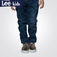 LEE童装 秋款女童时尚休闲裤长裤中大儿童直筒加厚牛仔裤2RW40565