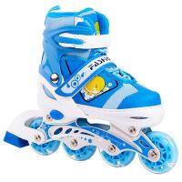 溜冰鞋可调闪光直排轮旱冰鞋滑冰鞋男女小孩轮滑鞋儿童全套装