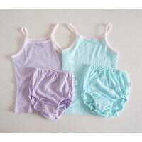 夏日透气又柔软 宝宝内衣套装 女童吊带 婴幼儿套装 实用款