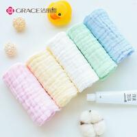 纯棉纱布毛巾 口水巾儿童宝宝洗脸小方巾新生婴儿用品