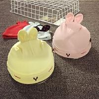 新生婴儿帽子0-3个月秋冬纯棉套头帽男女宝宝帽子睡觉胎帽护耳帽