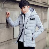 冬季中长款棉衣男士韩版潮流连帽加厚青少年学生棉服大码棉袄外套