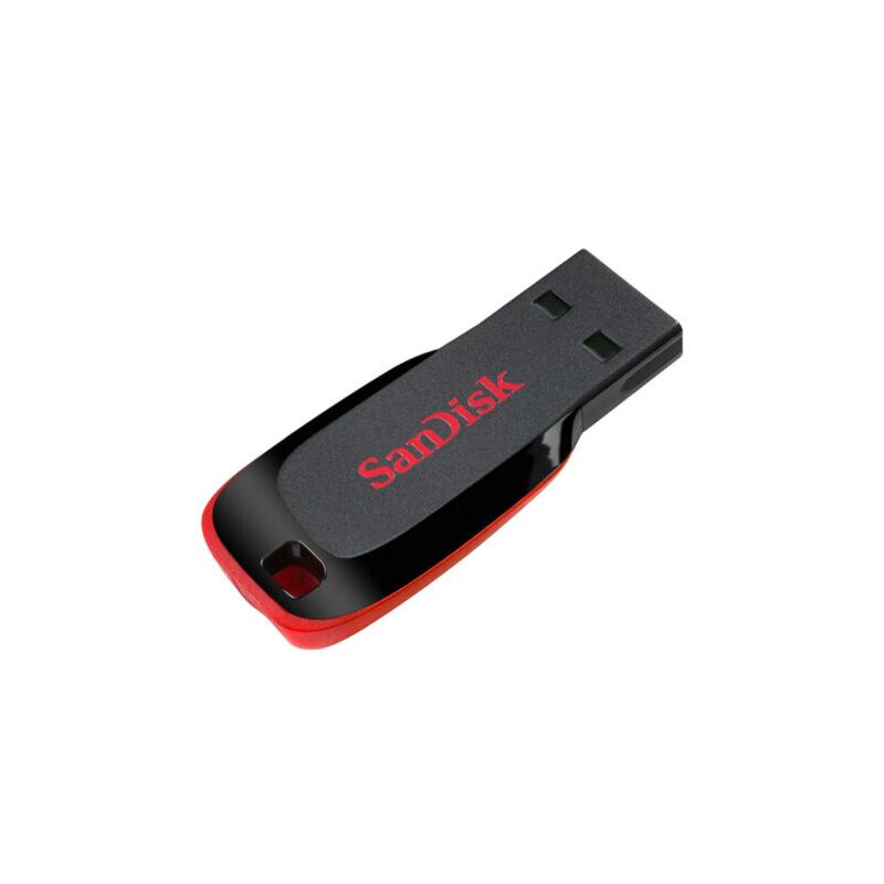 闪迪SanDisk酷刃CZ50 128G 16G 32G 64G U盘 USB2.0优盘 黑红 经典款 磨砂材质 精致小巧 方便携带