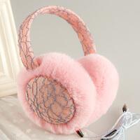 冬季耳罩可听音乐保暖女护耳可爱耳包防寒毛绒耳捂耳暖冬天耳套