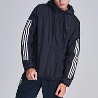 adidas阿迪达斯男子夹克外套防风服年跑步运动服BQ3502