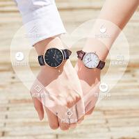 情侣手表一对价男女学生简约机械表礼物刻字