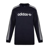adidas阿迪达斯三叶草男子卫衣2018保暖套头衫休闲运动服BR4222