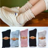 袜子女士纯棉短袜春秋季薄款中筒运动袜吸汗透气可爱卡通全棉袜子 均码