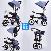 折叠儿童三轮车宝宝手推车1-3-5岁脚踏自行车