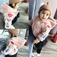婴儿衣服秋装女童外套装1岁0男宝宝加厚保暖秋冬装