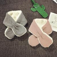 宝宝围巾冬季加绒围脖男女儿童围巾婴儿保暖小领巾韩版潮新款