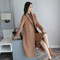 双面呢大衣女新款韩版修身显瘦中长款欧美时尚秋冬款羊毛外套