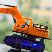 挖掘机玩具车电动发光挖土机工程车钩机儿童挖机