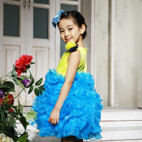 公主裙蓬蓬裙女童夏 小女孩演出服 儿童舞蹈演出服装 婚纱礼服