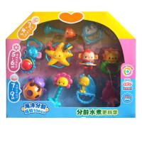 婴幼儿玩具 海洋动物分年龄手摇铃玩具宝宝儿童礼盒装生日礼物 463161十只装