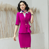 海航空姐制服职业套装女士职业装播音艺考客服接待美容院工作服