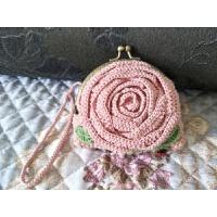 卡通花朵口金包包手工钩针编织毛线婴儿手编棉线毛线材料包