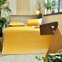 凉席冰丝席1.8m床可水洗折叠印尼藤席三件套夏季1.5米空调草席子