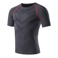 男士运动紧身衣速干衣夏季骑行跑步训练服健身压缩足球篮球运动短袖T恤 XX