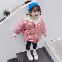 女童棉袄冬季女宝宝亮面羽绒小童冬装洋气婴儿棉衣