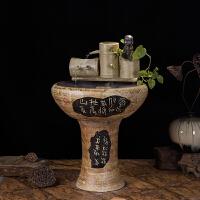 陶瓷�~缸流水�[件客�d家�b工�品��高升加�耢F化器��水盆